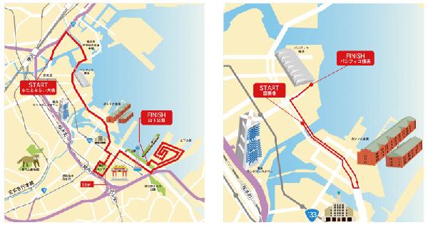 横浜マラソン2016 10km 2km コースイメージ