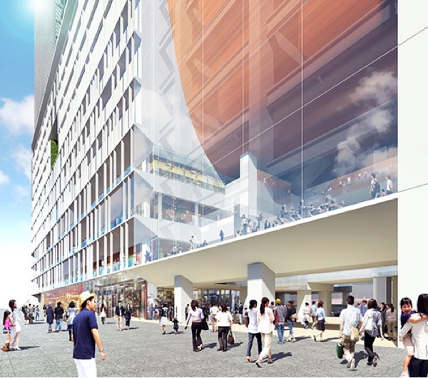 西口駅前広場側外観