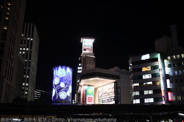 横浜駅西口 風の塔 イルミネーション