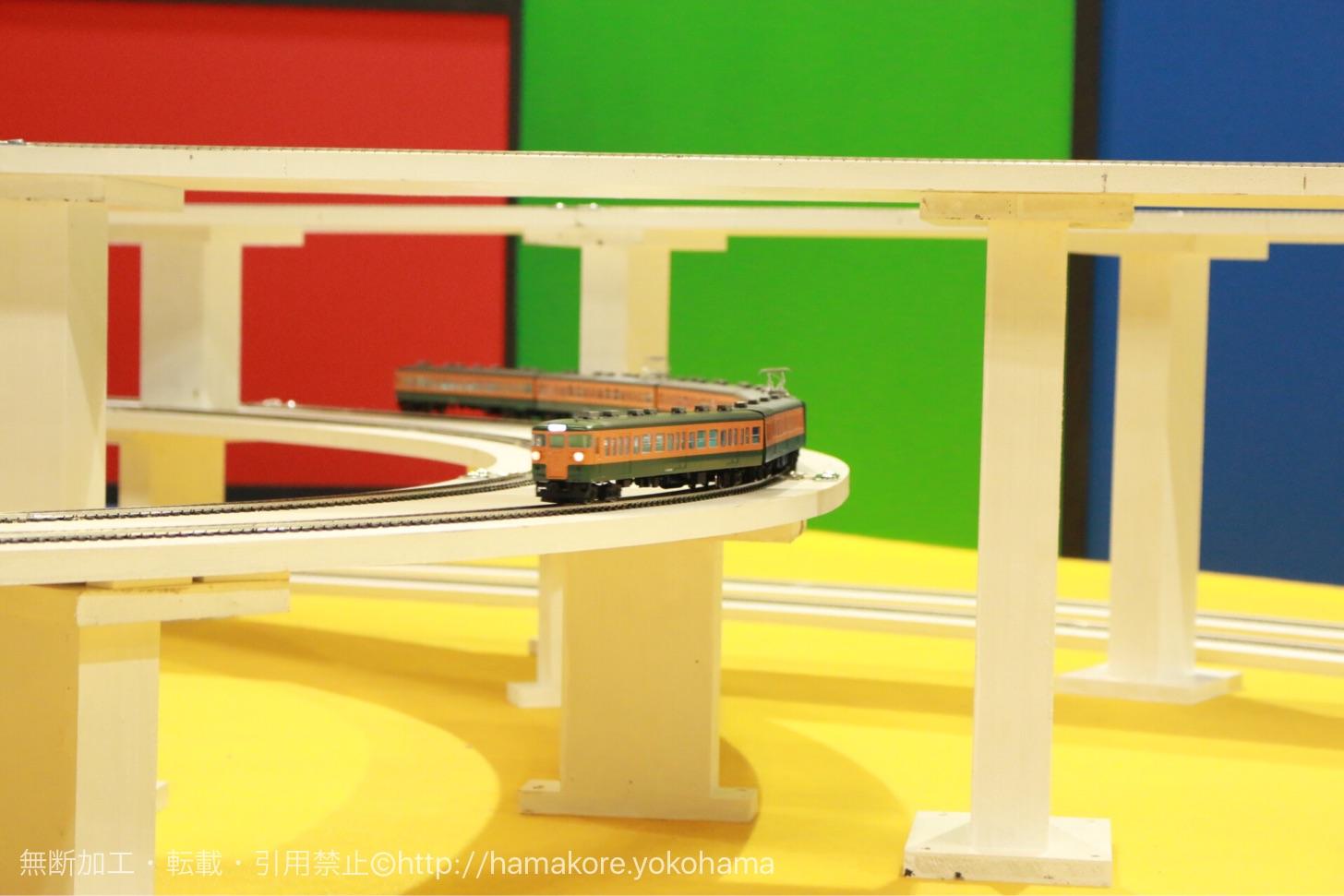 ジオラマ上の電車