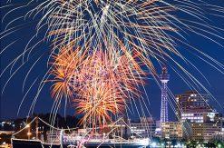 横浜の花火 スパークリングトワイライトを待ち時間なしで見れる事前予約の大さん橋観覧席