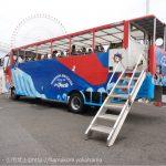 横浜みなとみらい「水陸両用バス」を発見!赤と青の可愛らしいバス