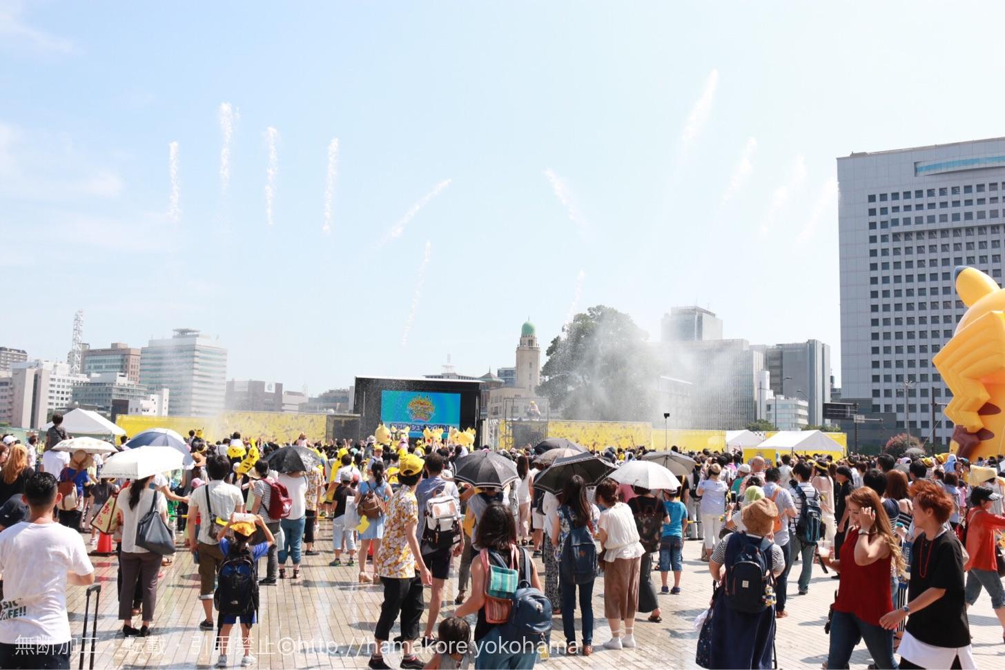 ずぶぬれスプラッシュショー「スプラッシュ・キングダム」 大放水の様子