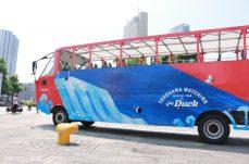 水陸両用バス 横浜(スカイダック)がグランドオープン!赤レンガパーク発も