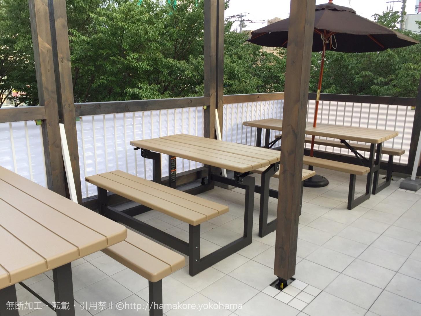 Roof Top Cafe YOKOHAMA 屋上テラス席