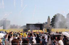 横浜赤レンガ ピカチュウずぶぬれスプラッシュショーは桁違いの大放水!想像以上の量で撤退!