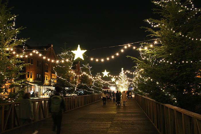 クリスマスマーケット in 横浜赤レンガ倉庫 会場の様子