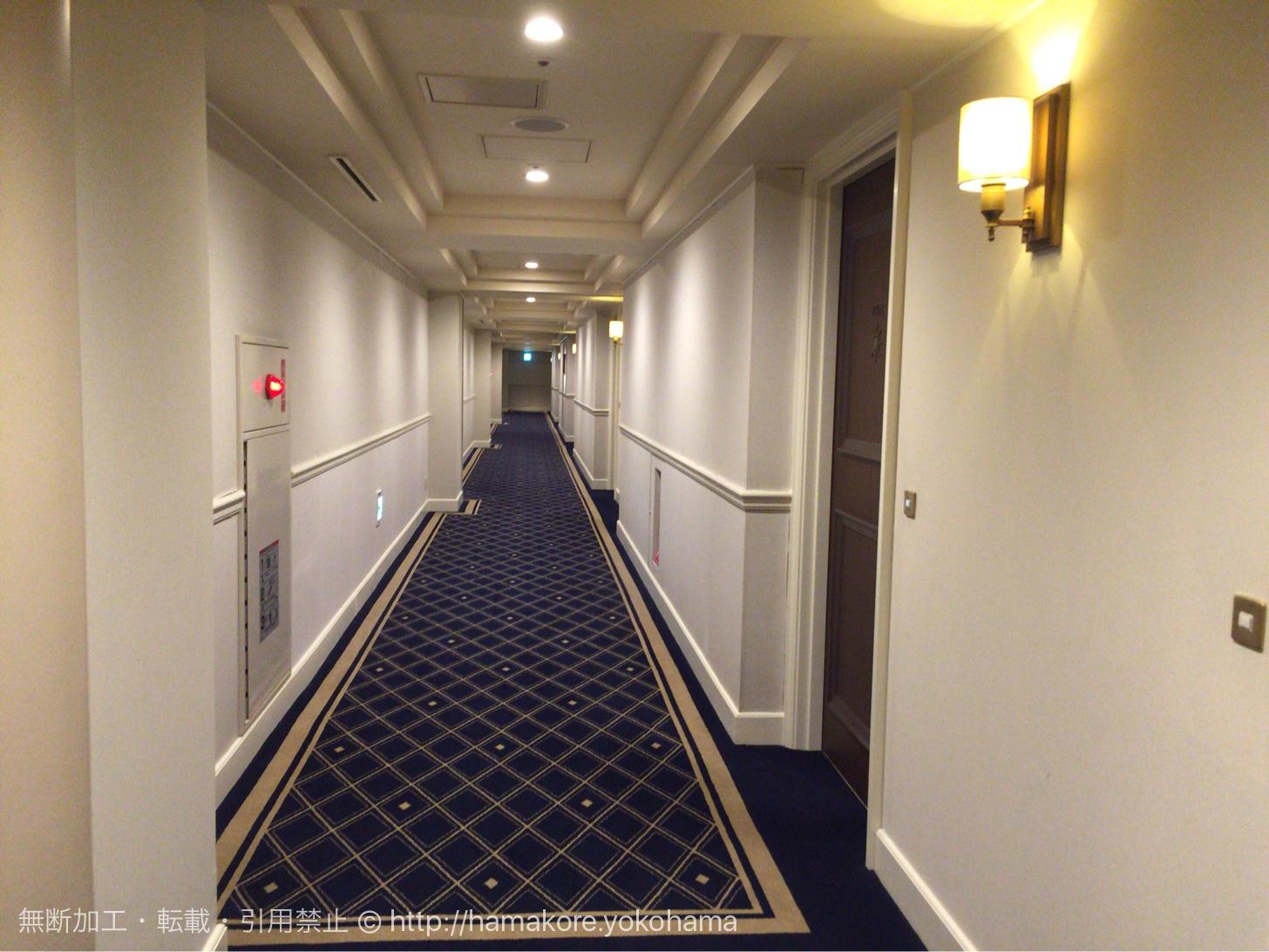 ヨコハマ グランド インターコンチネンタルホテル 廊下