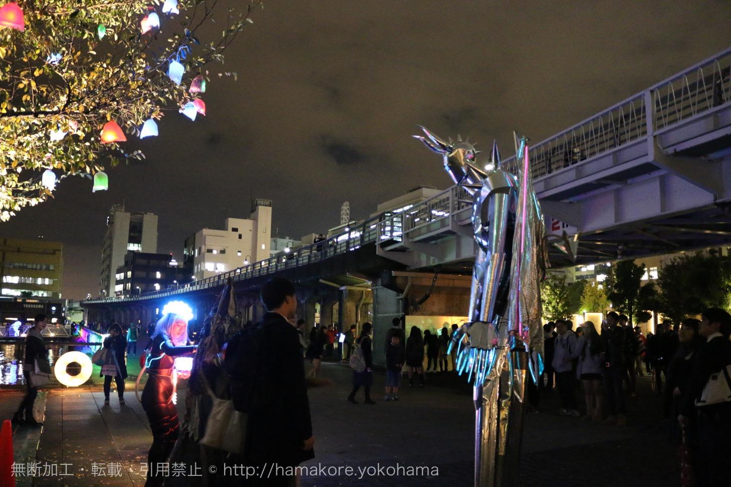 スマートイルミネーション横浜2015の様子