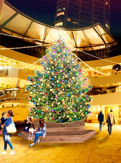 横浜ベイクォーター クリスマスイルミネーション  クリスマスツリー