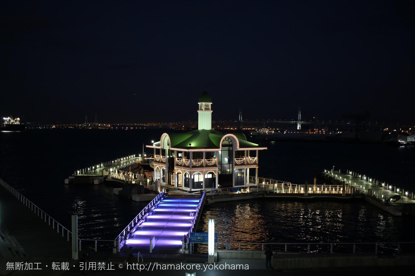 パシフィコ横浜 ウィンターイルミネーション ぷかり桟橋