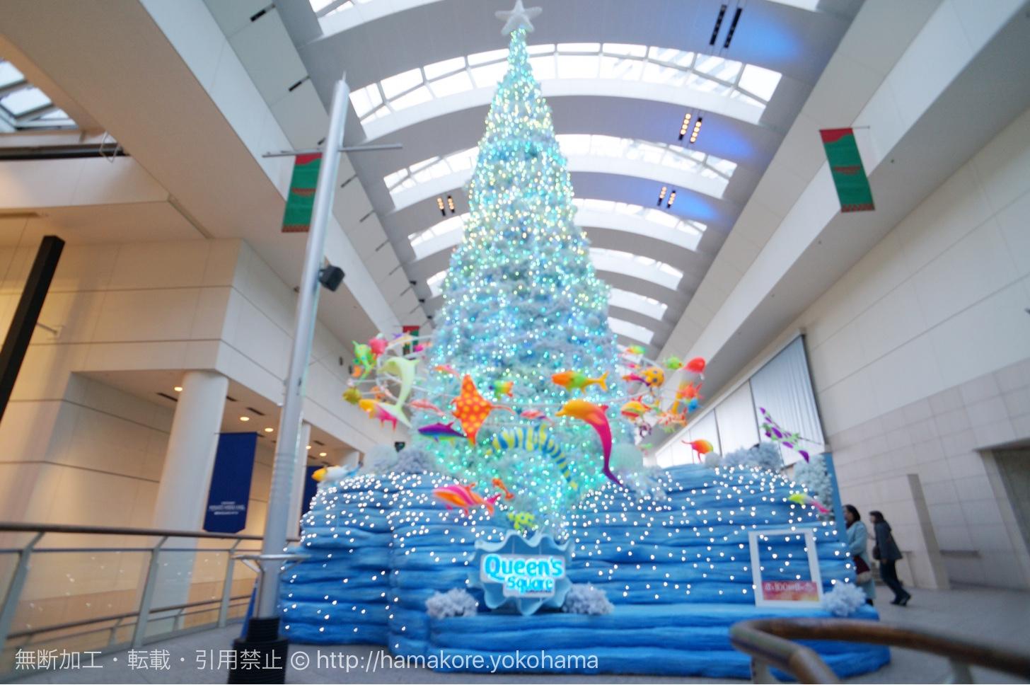 クイーンズスクエア クリスマス 2016のツリーが登場!海の生き物に囲まれたファンタジックツリー