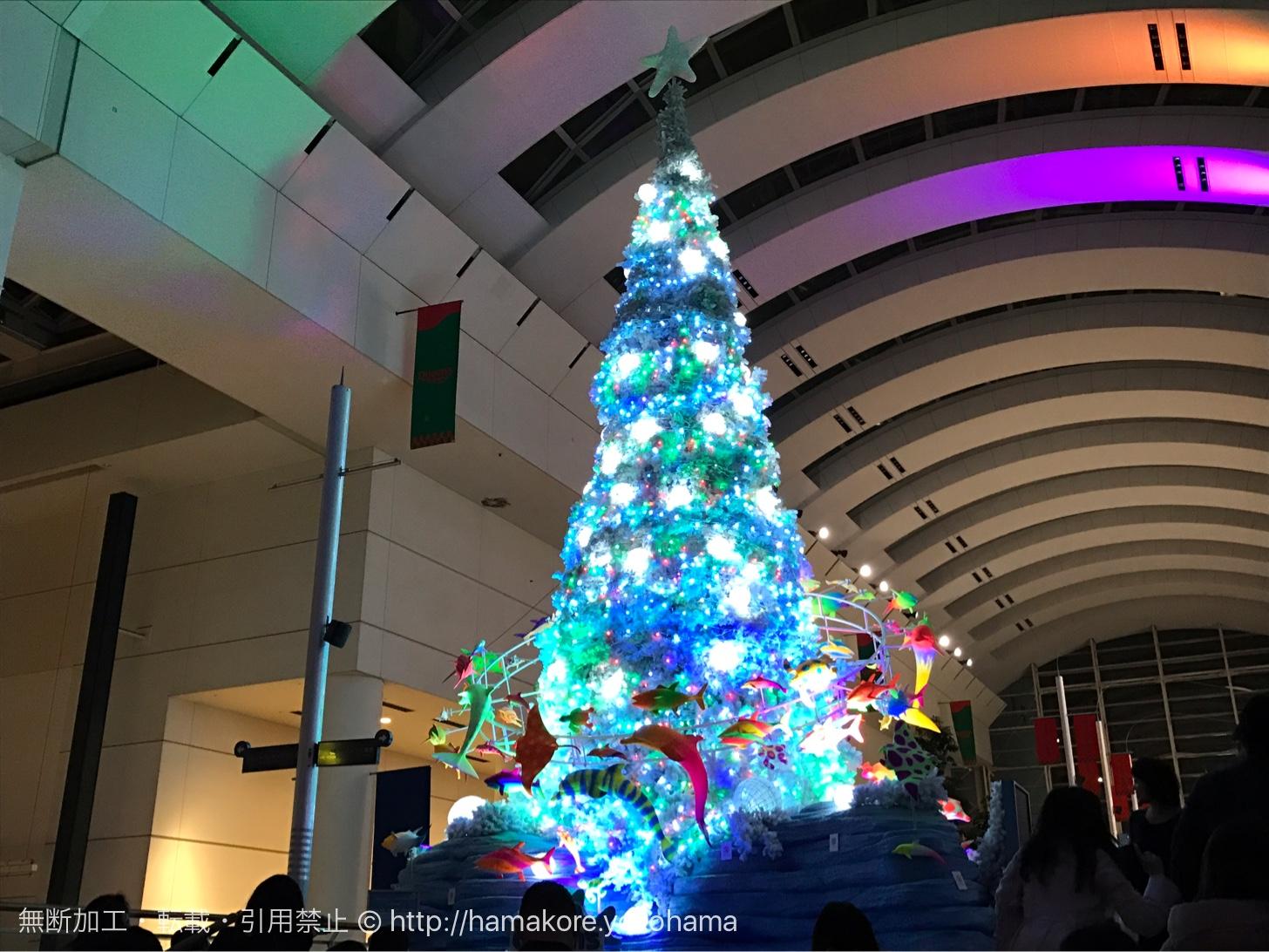 クイーンズスクエア横浜(クリスマスツリー)