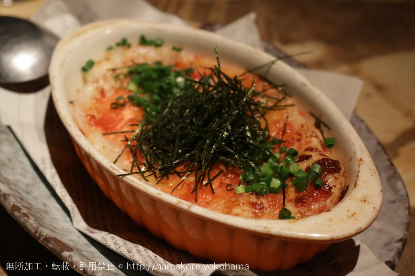 モチの明太マヨチーズ焼き(630円)