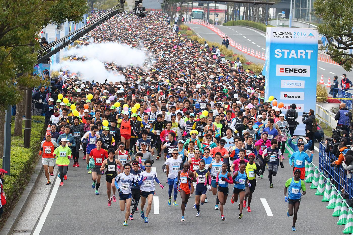 横浜マラソン2017の詳細が決定!エントリーは4月5日から、新種目「1/7フルマラソン」も