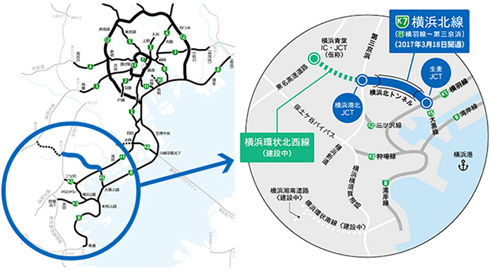 横浜北線(横羽線~第三京浜)が2017年3月18日に開通!