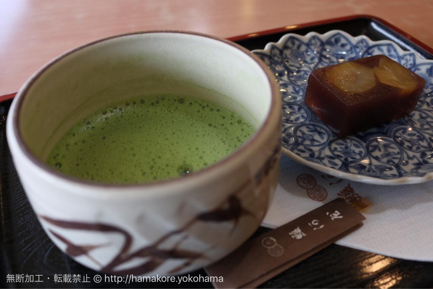抹茶と栗羊羹のセット
