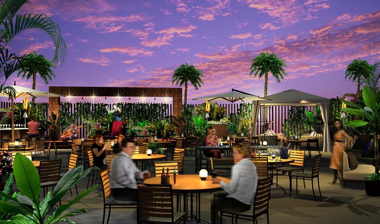 横浜モアーズ屋上に「アロハテーブル・ハワイアン・ビアガーデン」が2017年5月2日にオープン!
