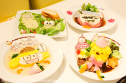 横浜駅 ポムポムプリンカフェのおそ松さんコラボはメニューの他に店内もコラボキャラで溢れて凄かった!