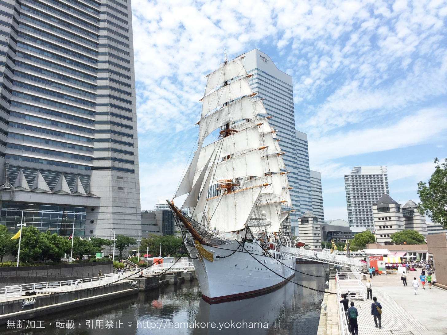 2017年7月17日に「日本丸」総帆展帆を実施!展帆・畳帆の時間について