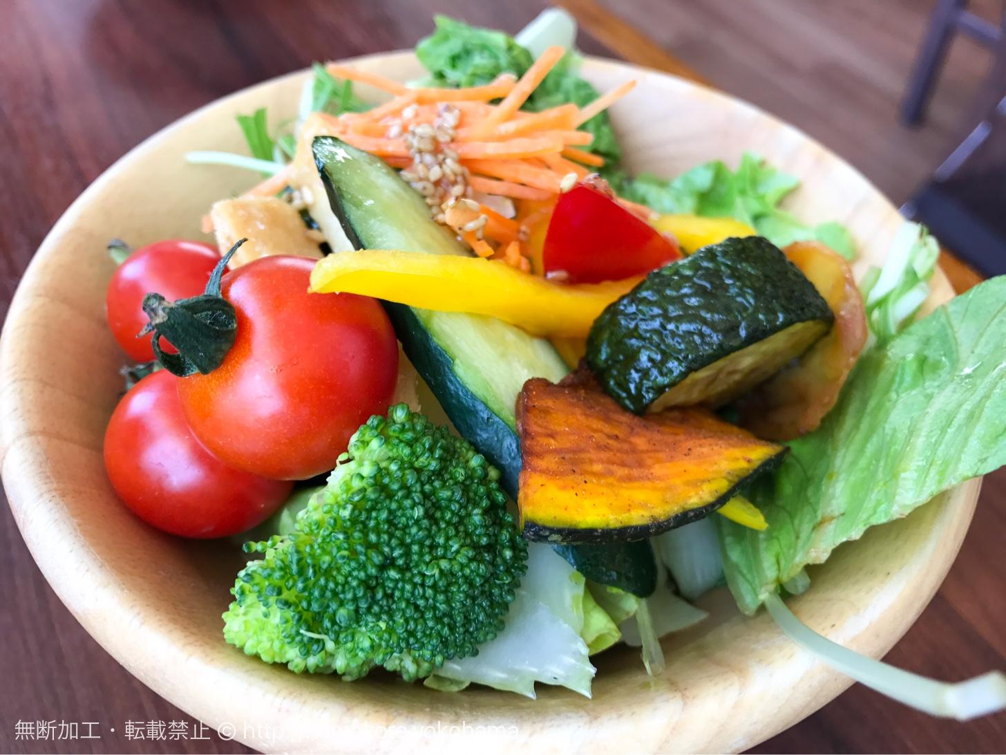 お皿に盛った野菜