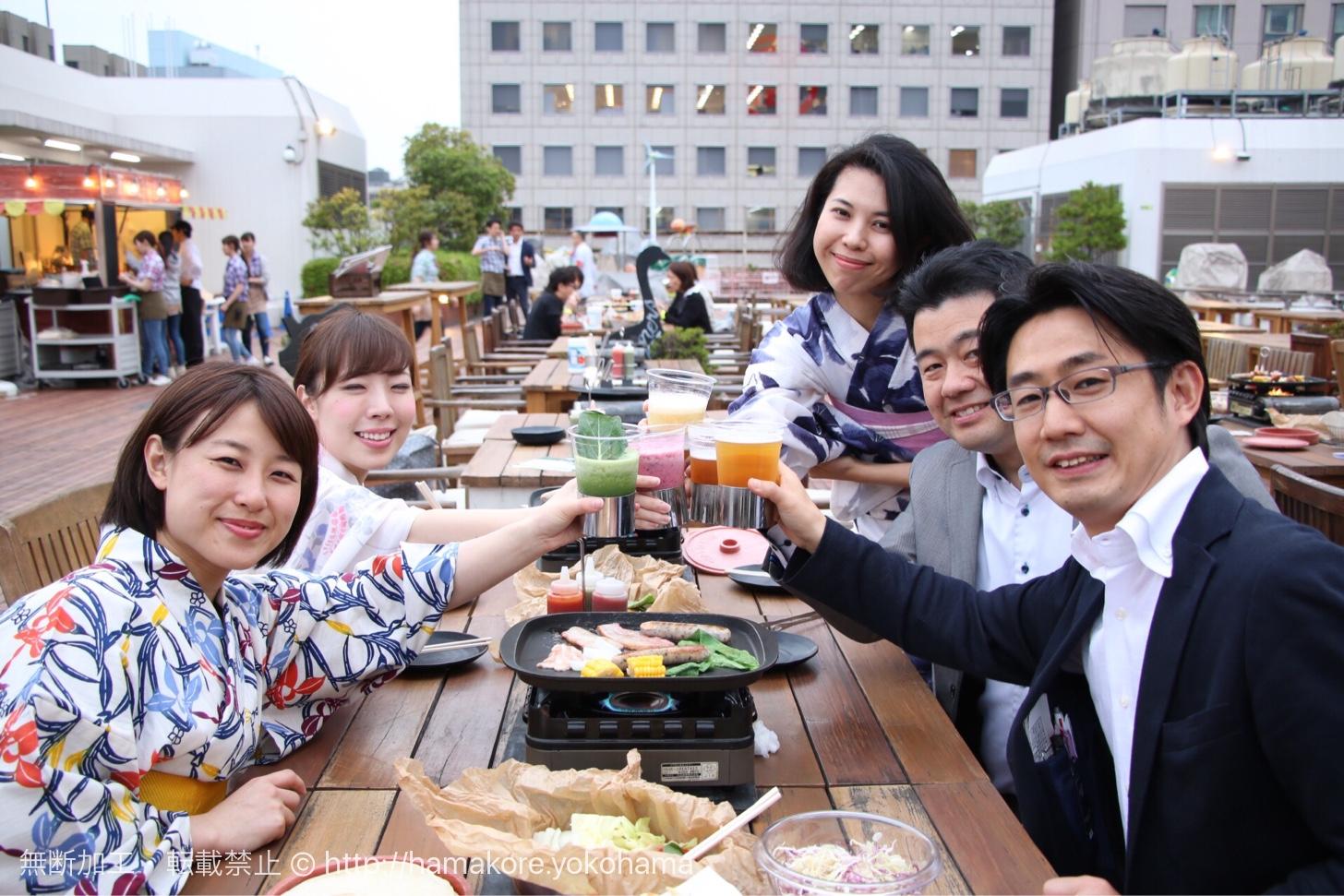 2017年 横浜タカシマヤ屋上「ファーマーズビアガーデン」がオープン!安心・安全の野菜が充実