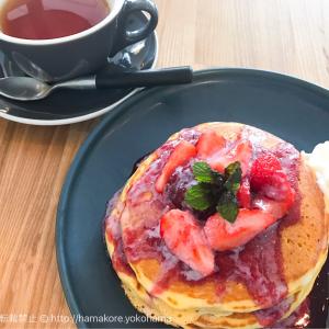 横浜ベイクォーター「タブレスクック&リビングハウス」でパンケーキを注文!お洒落家具と開放感がたまらない!