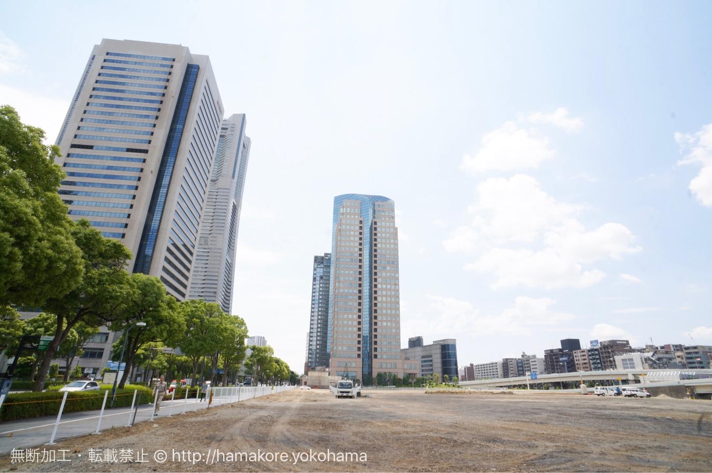 横浜みなとみらい トヨタジョイパークと日産カーパレスの跡地