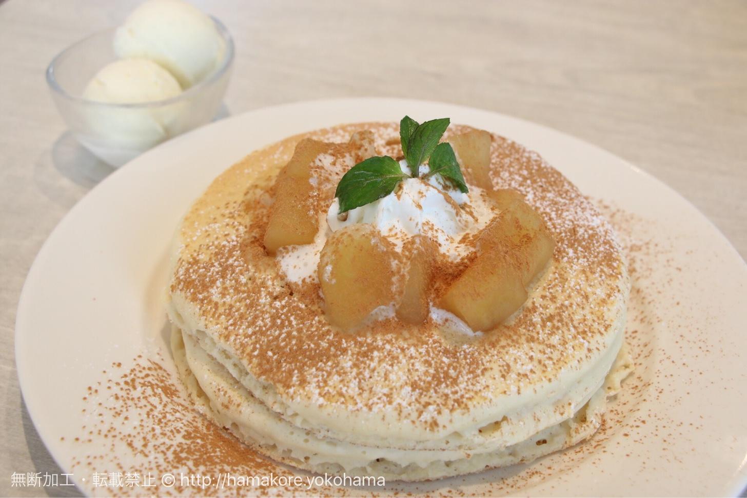 シナモンアップルのパンケーキ