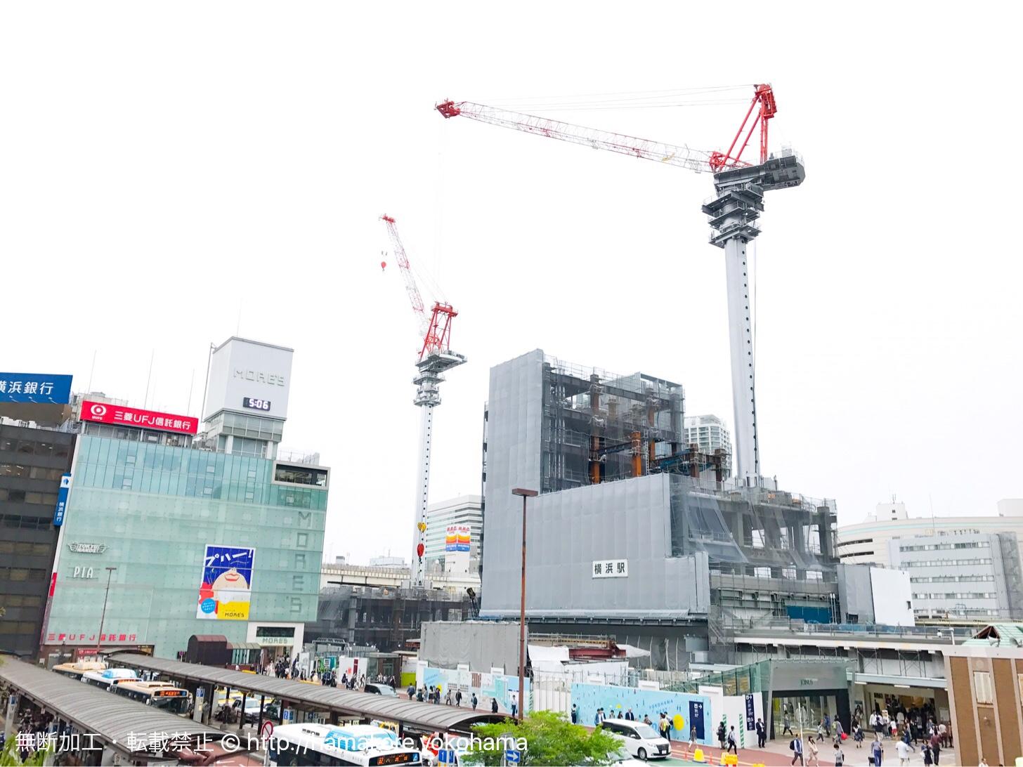 横浜駅西口 駅ビル工事 2017年5月の様子