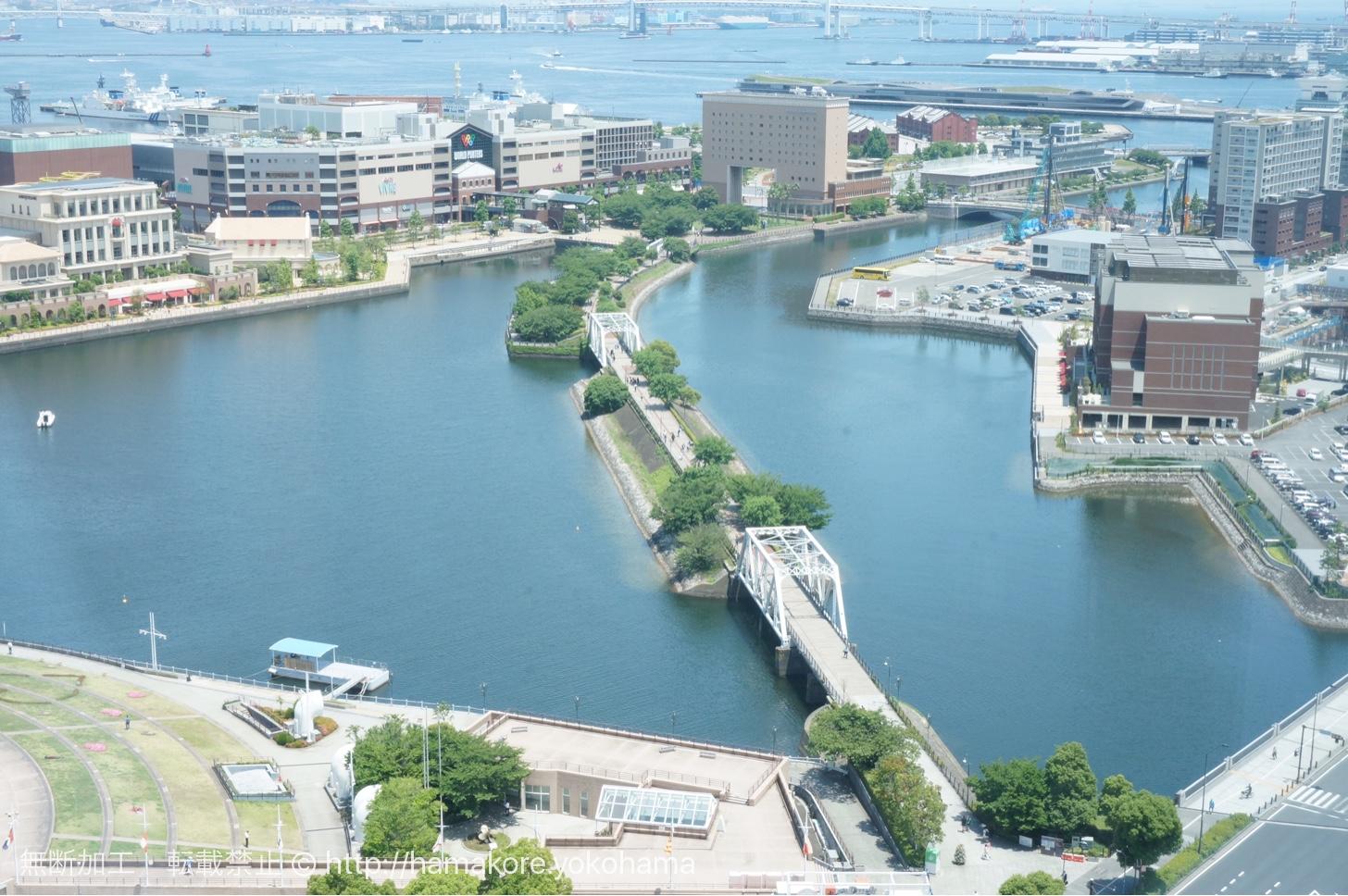 横浜モノリスの席から見た横浜の景色