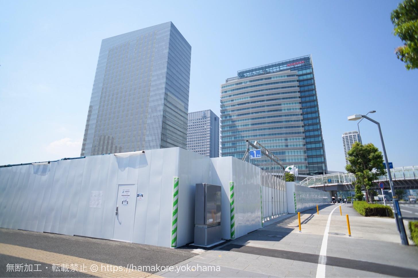 京急本社の移転先みなとみらい 56-1街区 工事の覆い開始!京急ミュージアムも併設