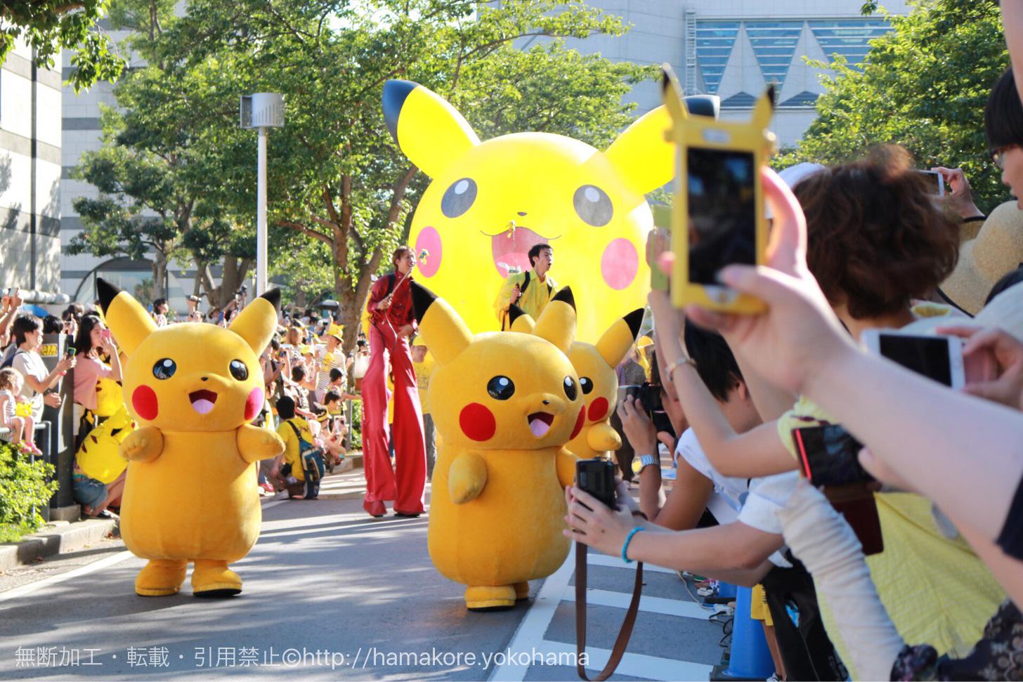 2017年 ピカチュウ大量発生チュウ!のパレードが8月14日に開催!今年は場所が変更に