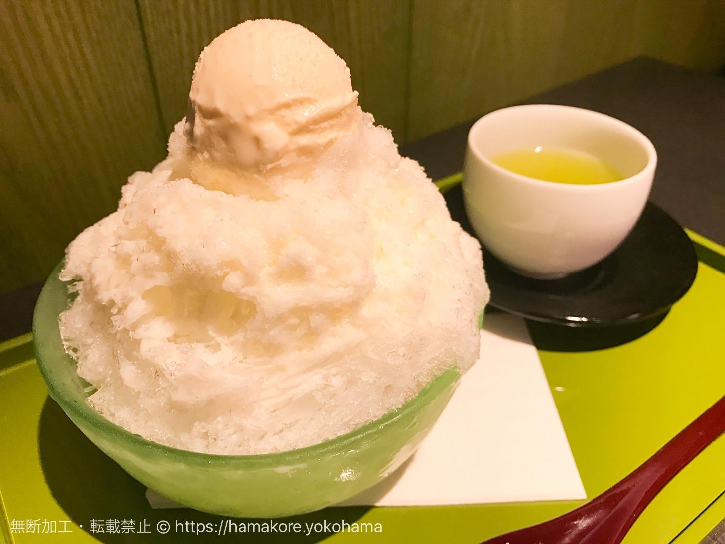 横浜高島屋「清月堂」のかき氷・氷ミルクが美味しすぎ!上も下もミルクたっぷり