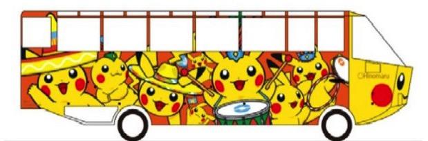2017年 ピカチュウ大量発生チュウ!で水陸両用バスのピカチュウラッピングを実施!