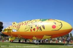 横浜みなとみらい 飛行船ピカチュウが空を飛ぶ!間近で見るなら係留場所がおすすめ
