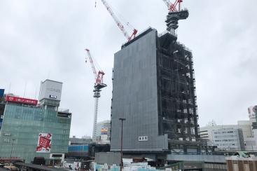2017年8月 横浜駅西口 駅ビル完成までの様子 [写真掲載]