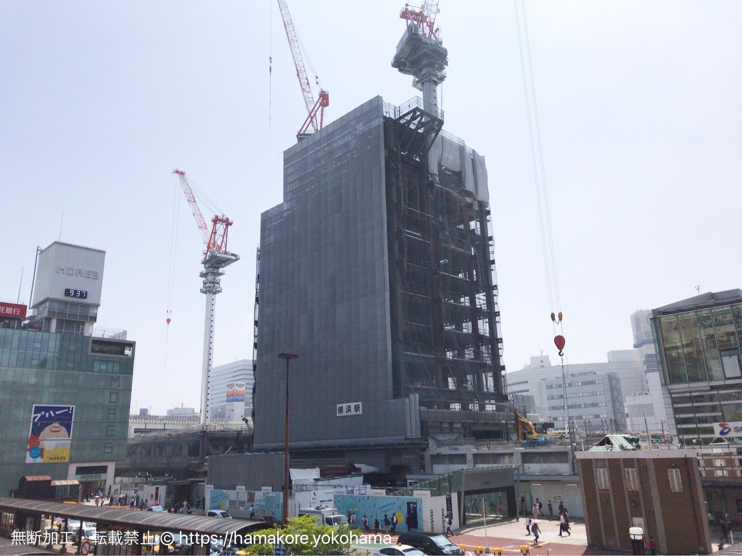 2017年8月 横浜駅西口の様子