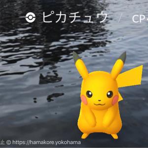 横浜・ポケモンGOパーク 色違い(日焼け)ピカチュウは野生でゲットできた!