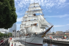 帆船日本丸、国の重要文化財に指定!海上で保存されている帆船として日本初