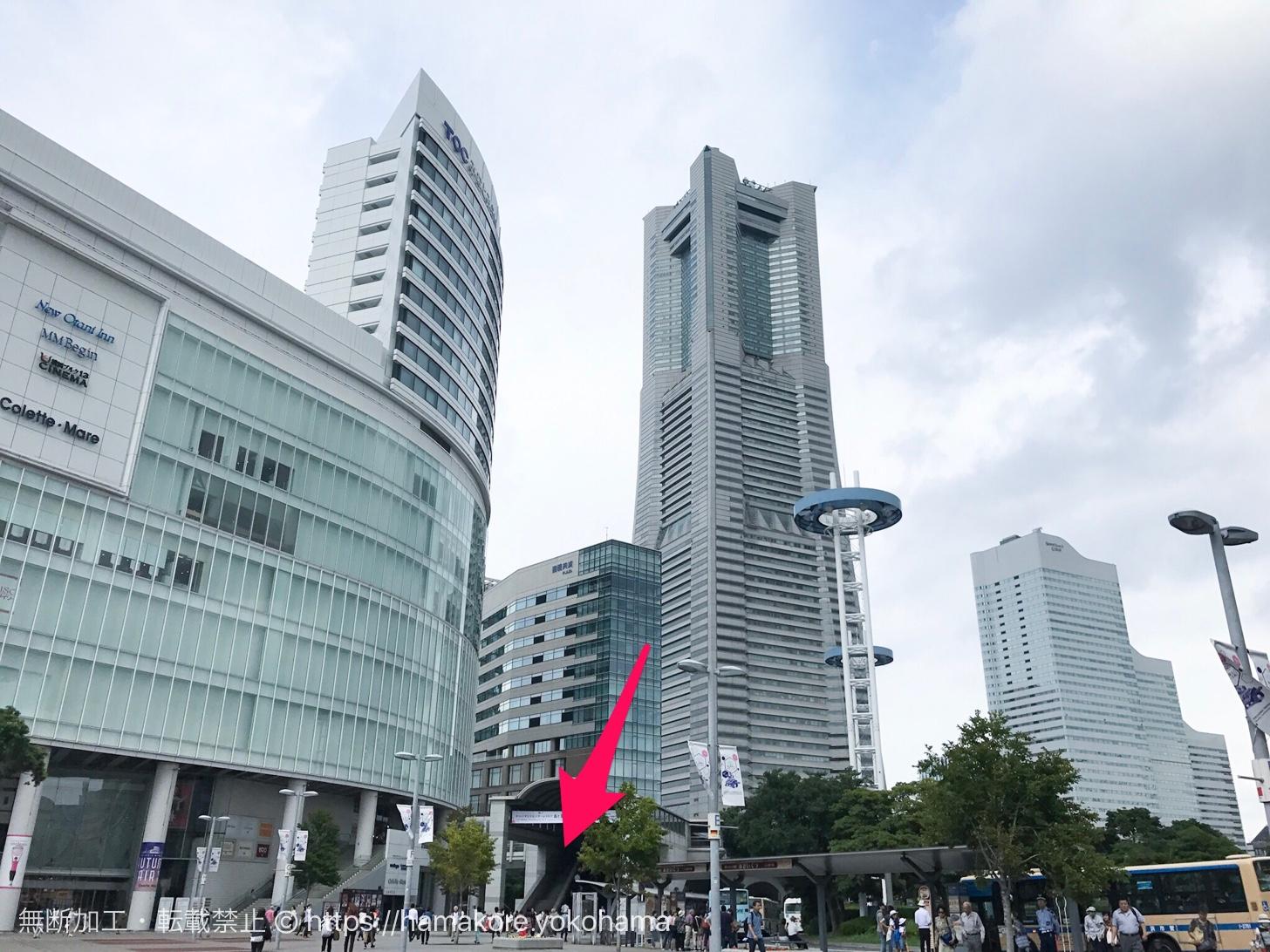 桜木町駅 エスカレーター