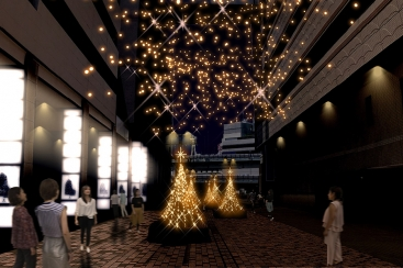 横浜駅東口 はまテラスで初のクリスマスイルミネーション「星降るテラス」を2017年11月6日より開催!
