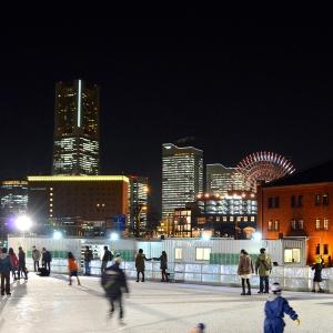 2017年 横浜赤レンガ倉庫「アートリンク」のオープニングセレモニーが12月1日に開催!夜空の下でアイススケート