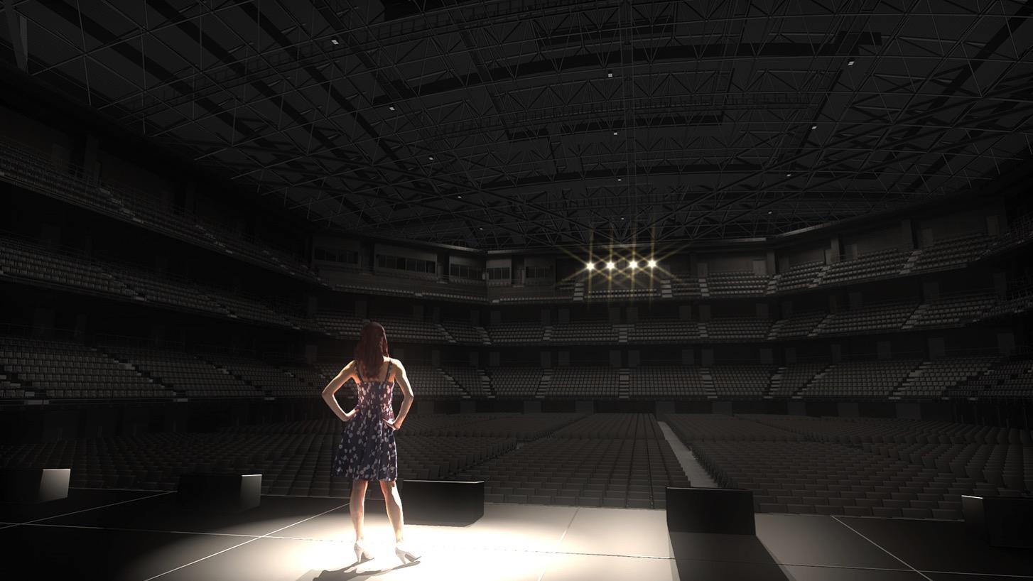 ステージからみた客席のイメージ
