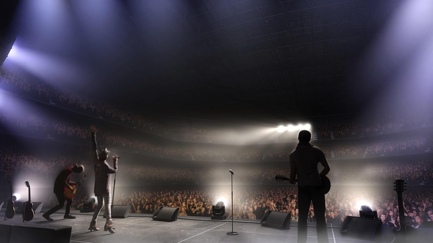 コンサート中のステージからみた客席のイメージ