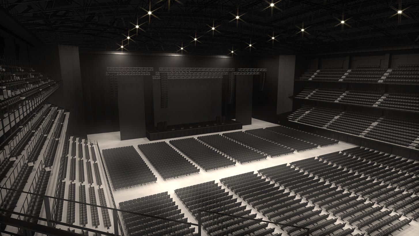 4階スタンドからみたステージのイメージ