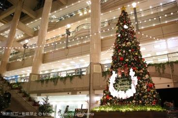 横浜「ランドマークプラザ」のクリスマスツリーが点灯!2017年はピーターラビット™が彩る