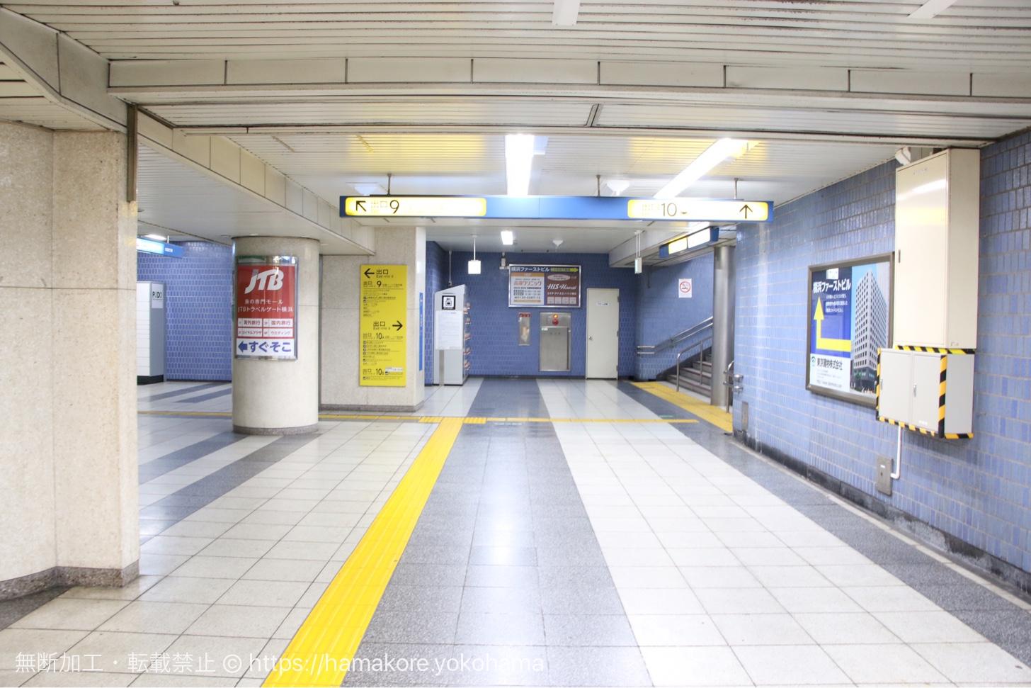 地下鉄 地下1階 奥側にあるコインロッカー