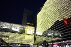 2017年 横浜駅西口のイルミネーションが点灯!包み込む光のベールを体験