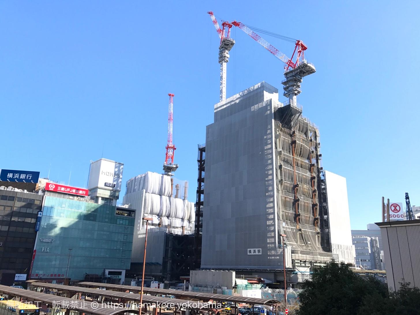2017年11月 横浜駅西口の様子